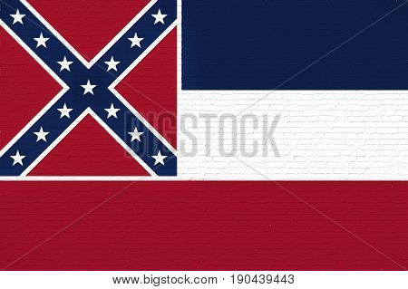 Flag Of Mississippi Wall