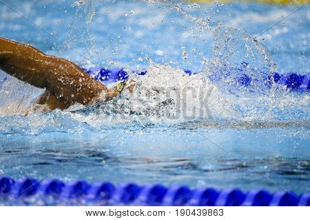 Rio de Janeiro Brazil - august 13 2016: DETTI Gabriele (ITA) during men's 1500 metre swimming freestyle of the Rio 2016 Olympics Games Rio 2016