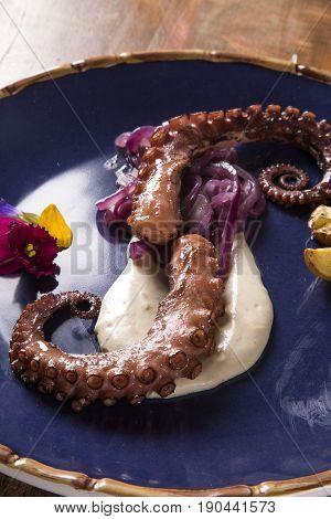 Delicious Octopus Dish With White Tartufo