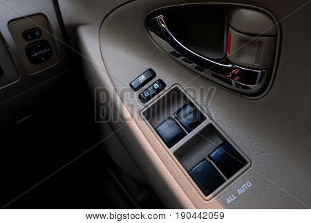 Control panel Equipment on the driver's side
