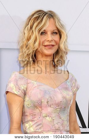 LOS ANGELES - JUN 8:  Meg Ryan at the American Film Institute's Lifetime Achievement Award to Diane Keaton at the Dolby Theater on June 8, 2017 in Los Angeles, CA