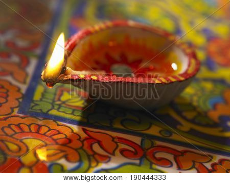 traditional indian oil lamp