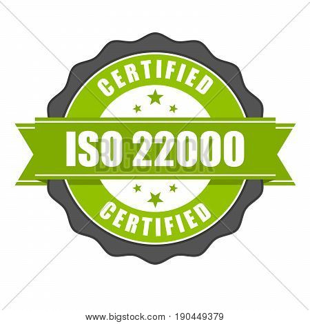 ISO 22000 standard certificate badge - Food safety management
