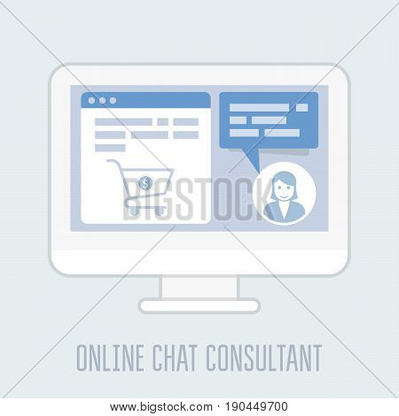 Online chat consultant - website assistance hints