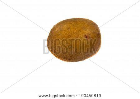 One Potato Isolated On White Background