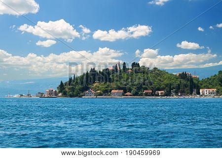 Coast in Verige Strait Kotor Bay Montenegro