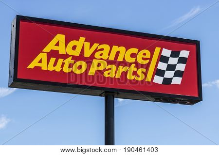 Indianapolis - Circa June 2017: Advance Auto Parts Retail Location. Advance Auto Parts is the largest retailer of automotive replacement parts and accessories in the US