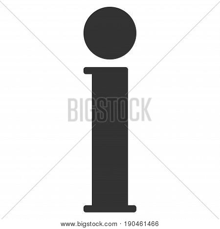 Information vector icon. Flat gray symbol. Pictogram is isolated on a white background. Designed for web and software interfaces.