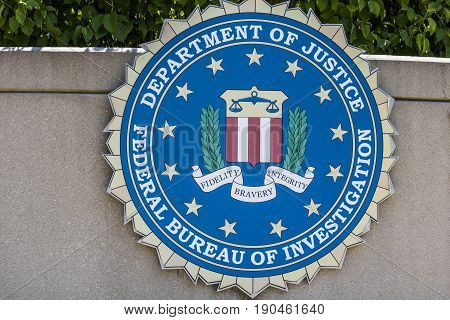 Indianapolis - Circa June 2017: Federal Bureau of Investigation Indianapolis Division. The FBI is the prime federal law enforcement agency in the US I