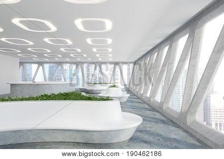Spaceship Style Office Interior