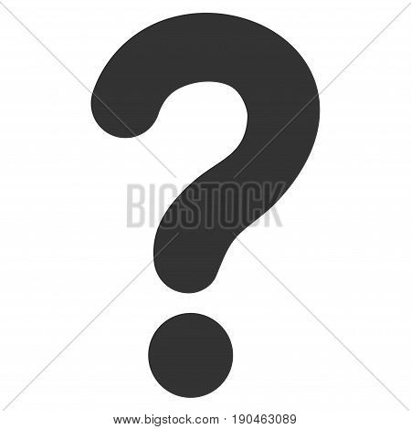 Question vector icon. Flat gray symbol. Pictogram is isolated on a white background. Designed for web and software interfaces.