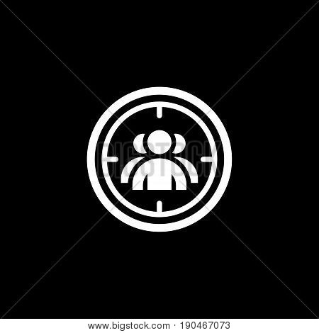 Targeting Icon. Flat Design. Business Concept. Isolated Illustration.