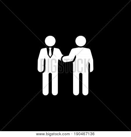 Handshake Icon. Flat Design. Business Concept. Isolated Illustration.