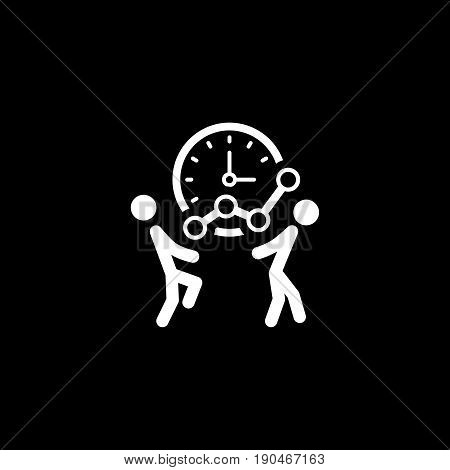 Time for Growth Icon. Flat Design. Business Concept. Isolated Illustration.