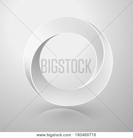 Impossible Circle Sign. Optical Illusion. Vector Illustration isolated on white. Sacred geometry.