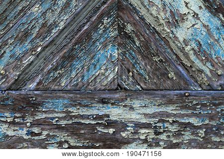 Weathered wood with patina in detail as a background