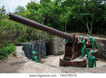 War Memorial At Cat Ba Island In Vietnam
