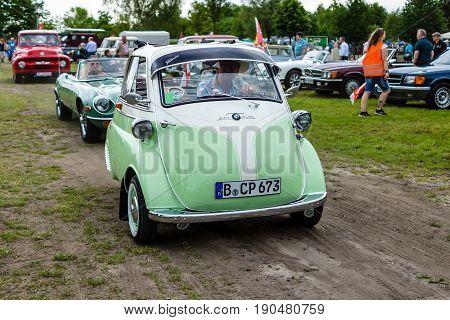 PAAREN IM GLIEN GERMANY - JUNE 03 2017: Microcar BMW Isetta 300. Exhibition