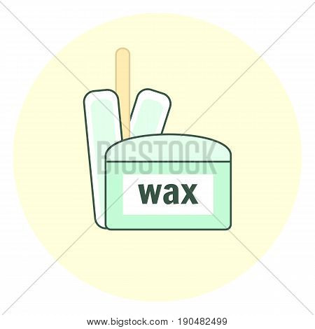 Blue Wax Depilation Icon, Hair Removal Tool