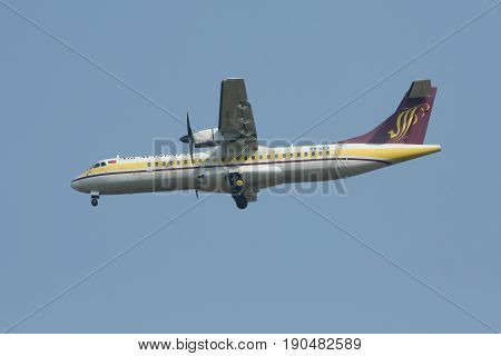 Xy-aey Atr72-200 Of Airmandalay.