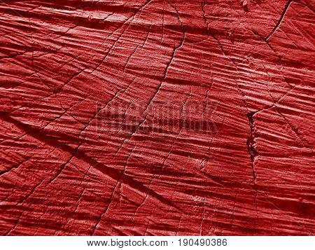 Red old wood texture dark cracked background