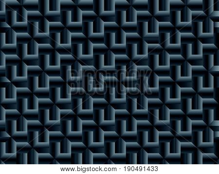Seamless Light pattern with dark relief ornate
