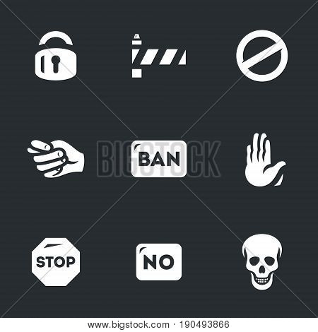 Lock, barrier, prohibition sign, fig, ban, gesture, stop, no, skull.