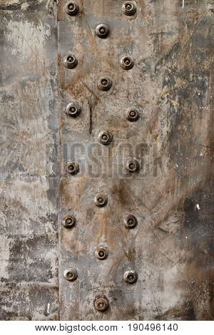 Texture of dirty cloth. Texture of a dense scuffed dirty cloth.  Rough fabric with rivets