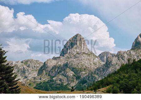 peak Pasjak Mount in Montenegro