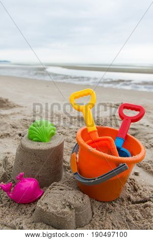 Beach Toys For Summertime Concept
