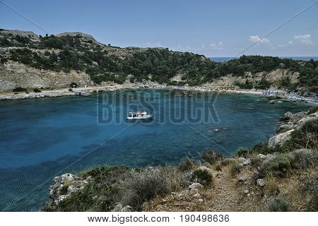 Anthony Quinn Bay on the island of Rhodes Greece