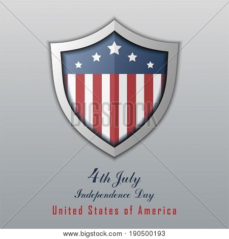 Independence day 4th july. Happy independence day. USA Holiday 4 July greeting card vector Illustration