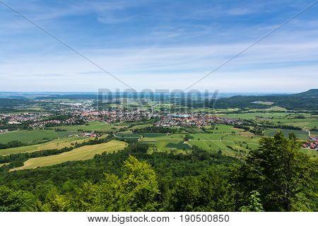 Hechingen Landscape From Hohenzoller Terrace Green German European Nature Forest Baden