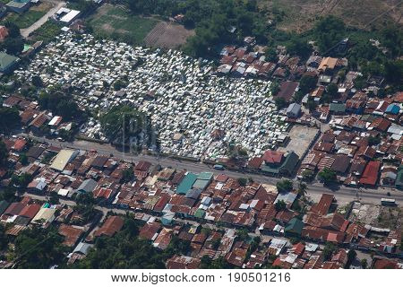 Angeles city from the air Luzon, Philippines