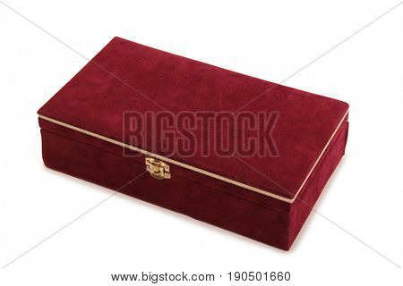 Vintage red box on a white background