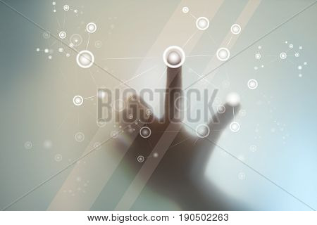 finger push technology finger touching display menu