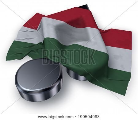 music note symbol symbol and hungarian flag - 3d rendering