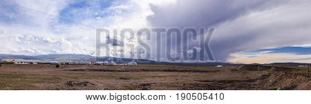 Tent city at the vicinity of Qinghai salt lake, Qinghai province, China.