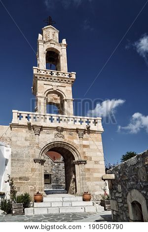 Bell Tower Orthodox Church on the island of Rhodes