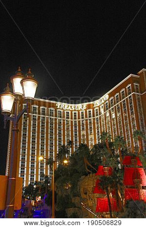 LAS VEGAS - October 9: Treasure Island Hotel and Casino on October 9, 2016 in Las Vegas. This Caribbean themed resort has an hotel with 2,884 rooms.