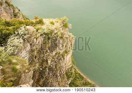 Viewpoint to the swamp from the horse's hoof in the Pyrenees poster