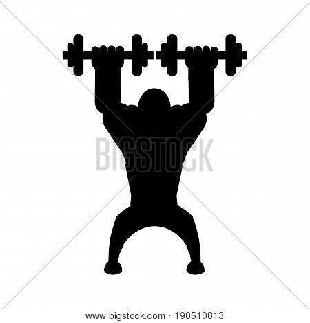 Body building and gym cartoon icon vector illustration graphic design