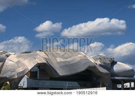 MILAN, ITALY - APRIL 17, 2017: Milan (Lombardy Italy): modern building in the new Citylife area (Tre Torri)