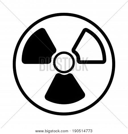 contour radiation symbol to dangerous and ecology contamination vector illustration