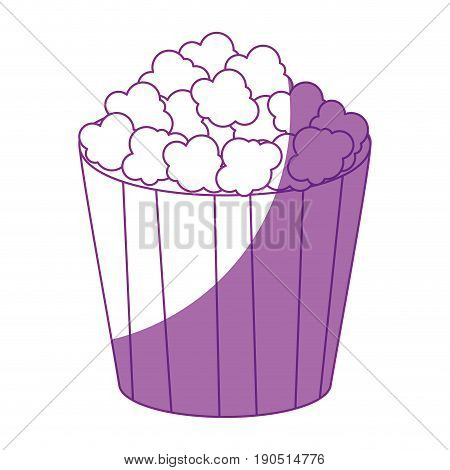 pop corn bucket icon over white background vector illustration