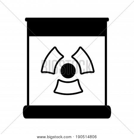 contour poster with radiation symbol of danger vector illustration