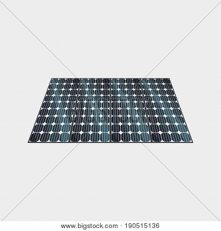 Vector Illustration Of Solar Power Station Building Icon With Sun And Urban City Skyscrapers Skyline