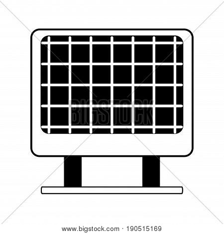 contour solar energy to protection and enviroment care vector illustration