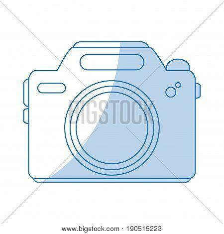 Flat line camera over white background vector illustration