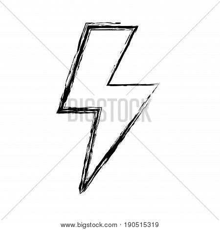 figure energy hazard sign to electrical warning vector illustration